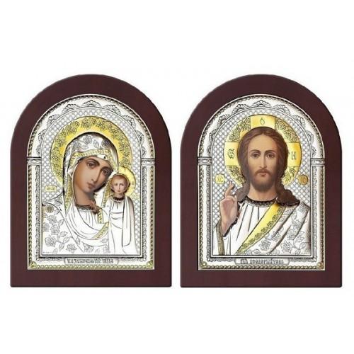 Господь Благословляющий. Казанская икона Божией Матери. Венчальная пара Арт. ВП