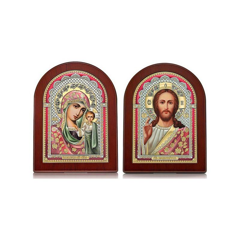Господь Благословляющий. Казанская икона Божией Матери. Венчальная пара Арт. ВП-Ц
