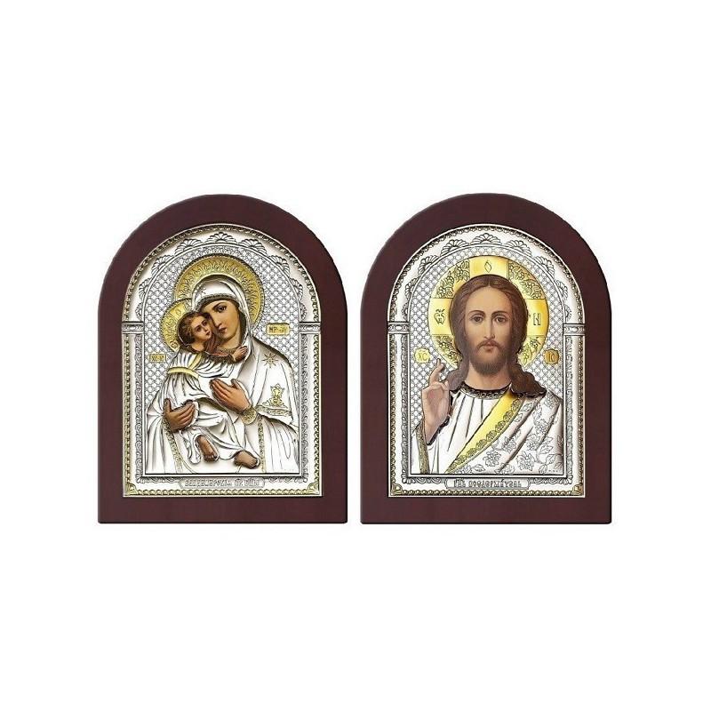 Господь Благословляющий. Владимирская икона Богородицы. Венчальная пара Арт. ИХ-ВБМ
