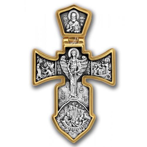 Большой крест с распятием (25 гр) «Ангел Хранитель»