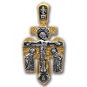 Крестик с распятием Господнем и Архангелом Михаилом (арт 101.024)