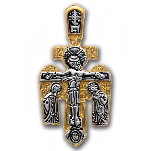 Распятие. Архангел Михаил. Нательный православный крест