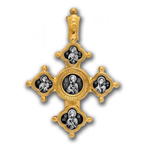 Господь Вседержитель. Похвала Богородице. Крест иконостас