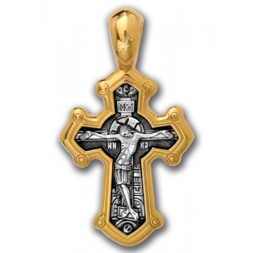 Православный крест «Распятие. Великомученик Димитрий Солунский» 101.030