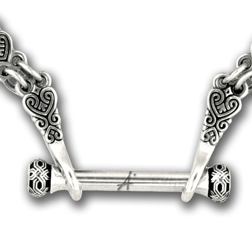 Переходник к серебряной цепочки с орнаментальным узором