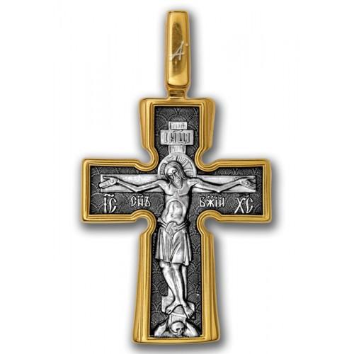 Позолоченный нательный крест «Пять Святителей» (арт 101.039)