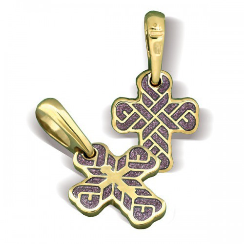 Православный крест с эмалью КЭ 16