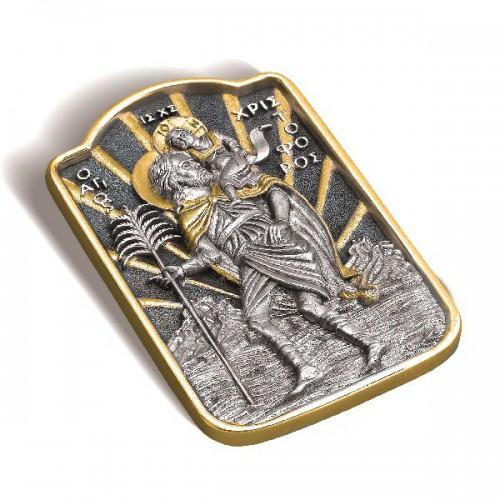 Икона дорожная «Св. мученик Христофор» ИД-3