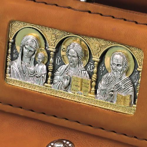 Кожаный футляр для автомобильной иконы ЧДИ-2