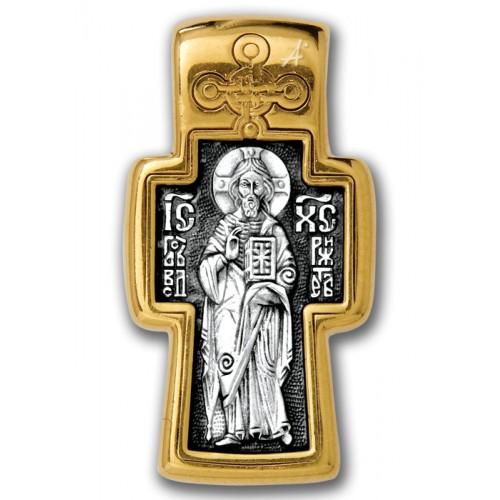 Позолоченный нательный крест «Вседержитель»