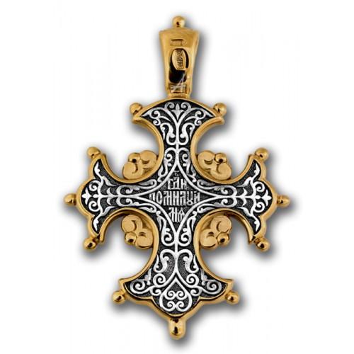 Позолоченный нательный крест «Древо Креста» (арт 101.057)