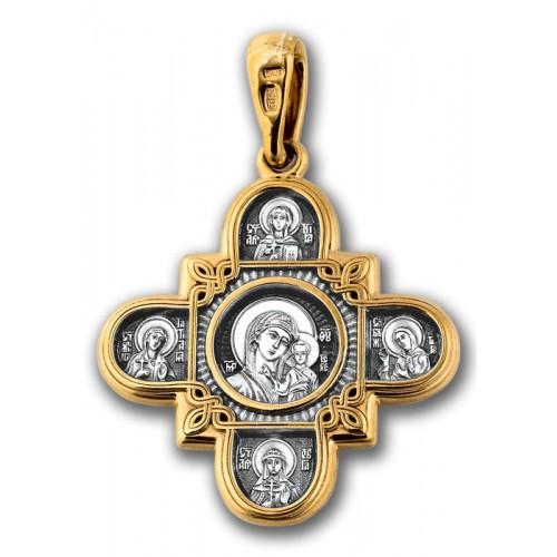 Позолоченный нательный крест «Восемь Святых» (арт 101.065)
