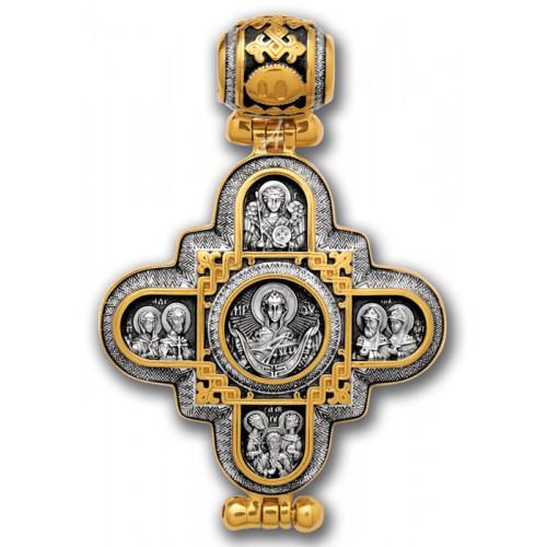 Господь Вседержитель. Божия Матерь. Крест мощевик