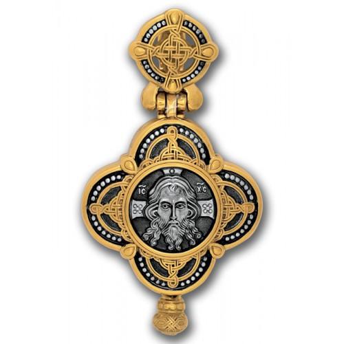 Крест мощевик. Спас Нерукотворный. Иконы Святых чудотворцев