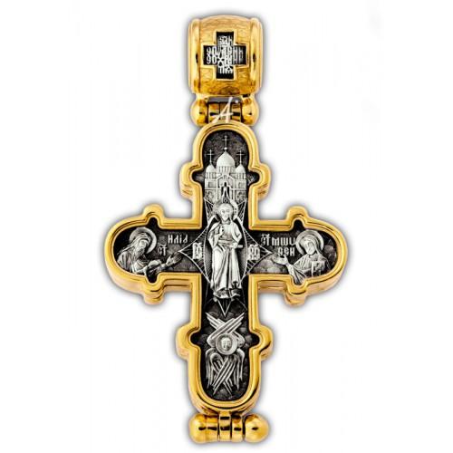 Преображение Господне. Валаамская икона Божией Матери. Крест мощевик