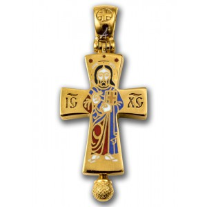 Божия Матерь Оранта. Господь Вседержитель. Нательный крест мощевик