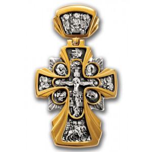 Большой нательный крест Распятие. Икона Божией Матери «Державная» 101.227