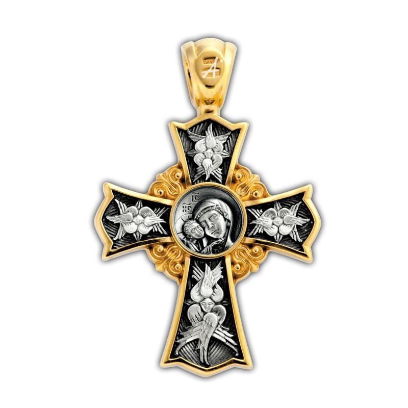 Нательный крестик. Богородица «Игоревская»
