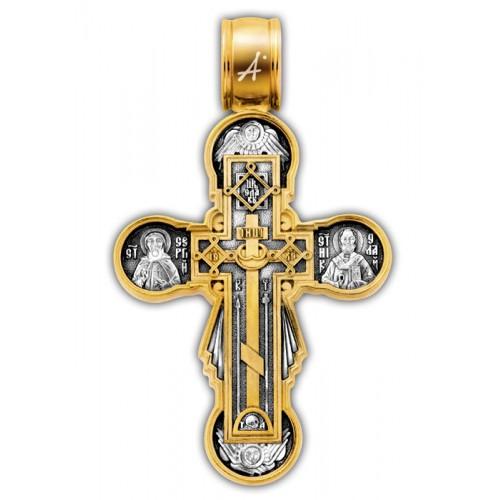 Позолоченный нательный крест «Нерушимая Стена» (арт 101.260)