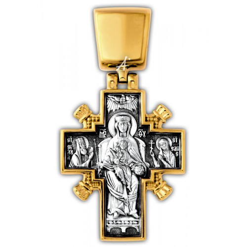 Крест «Христос Царь царей» из серебра с позолотой (арт 101.261)