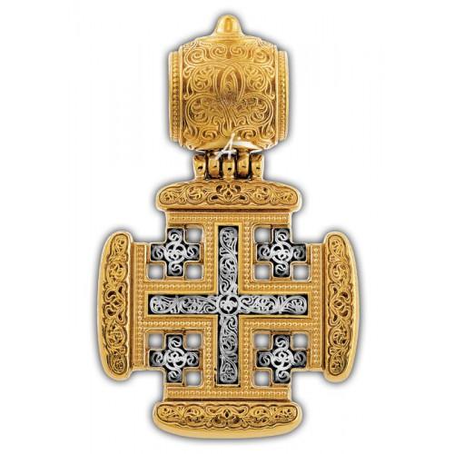 Нательный серебряный крест «Иерусалимский»