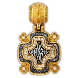 Иерусалимский «Крест паломника» 101.265-К (вставка бриллиант)