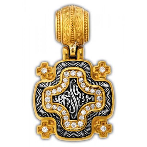 Иерусалимский «Крест паломника». Серебро с позолотой