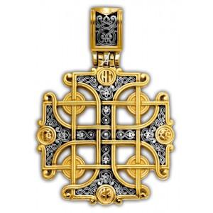 Серебряный крест с позолотой «Константинов крест» 101.266