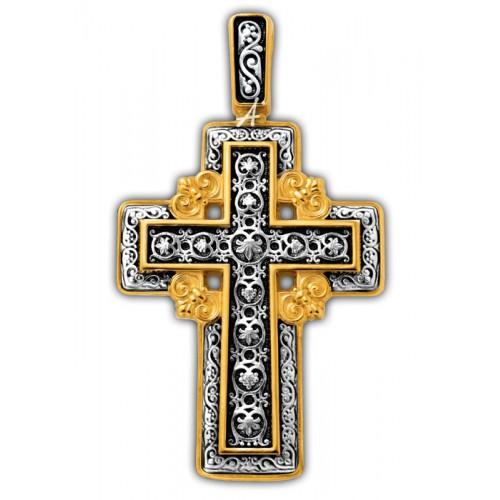 Позолоченный нательный крест «Голгофский» (арт 101.277)