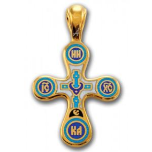 Нательный крест с эмалью «Голгофа. Древо Жизни» 103.006