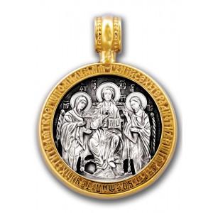 «Деисус». Господь. Богородица. Иоанн Предтеча. Образок Арт. 102.237