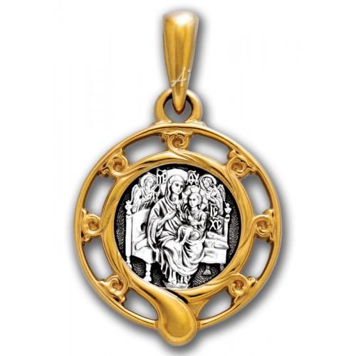 Нательная икона Божией Матери «Всецарица»