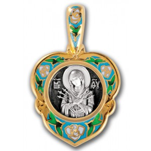 Нательная икона Божией Матери «Семистрельная» 103.217