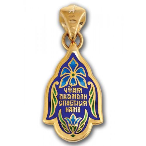 Владимирская Богородица. Нательный образок с эмалью