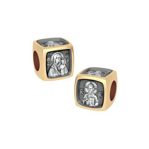 Позолоченная бусина «Деисус» с иконами иконостаса