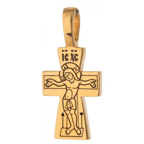 Маленький тельный крест (1,5 гр) «Ангел Хранитель»