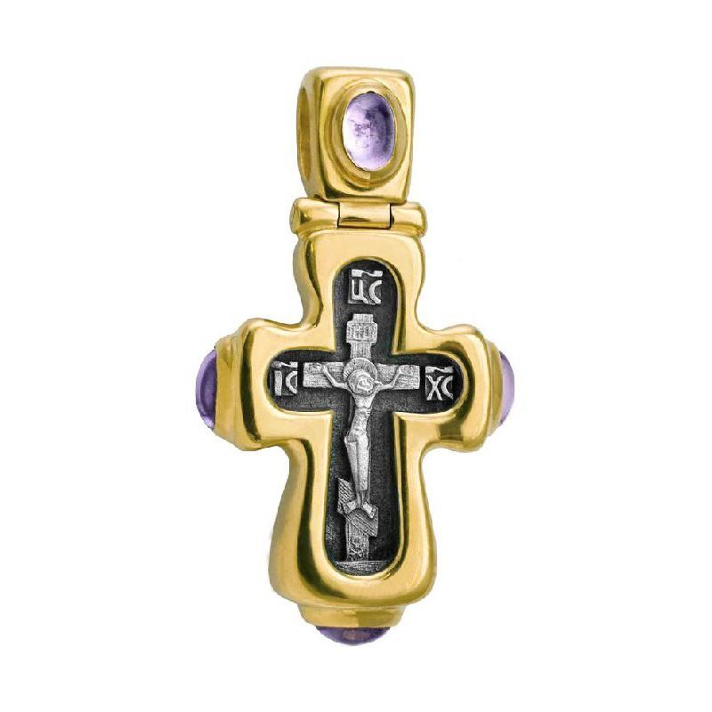 Крест нательный «Праздничный» 587 (аметист)