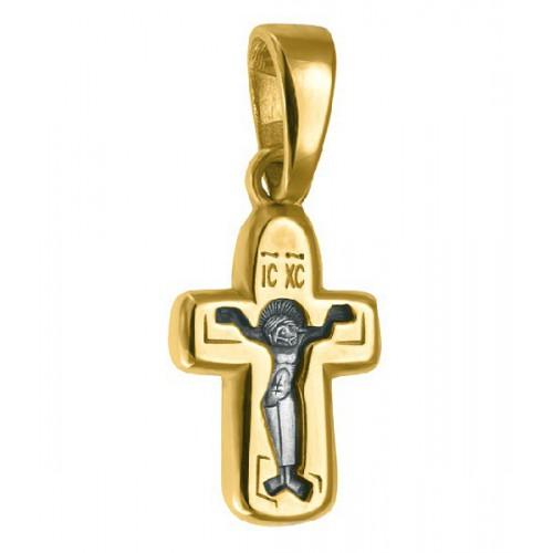 Маленький нательный крест (2 гр) «Покрова Богородицы» (Кс.679)
