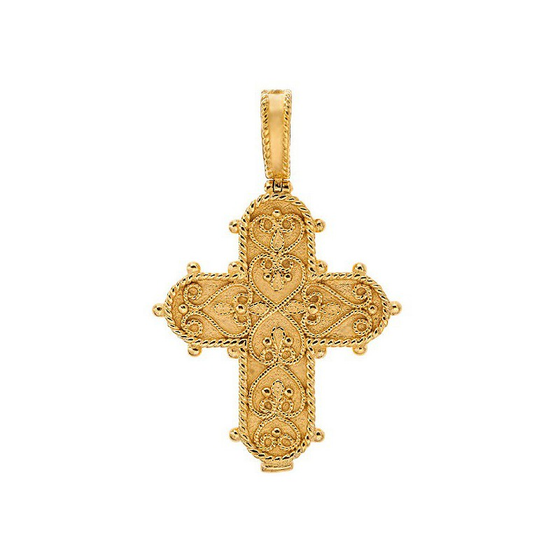 Православный нательный крест «Филигранный» 693