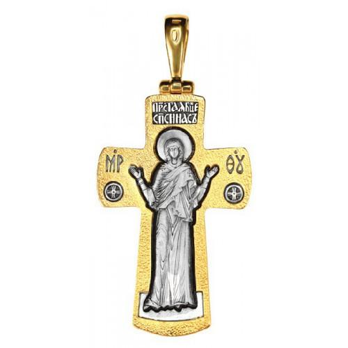 Большой нательный крест (15 гр) «Нерушимая Стена» (Кс.720)