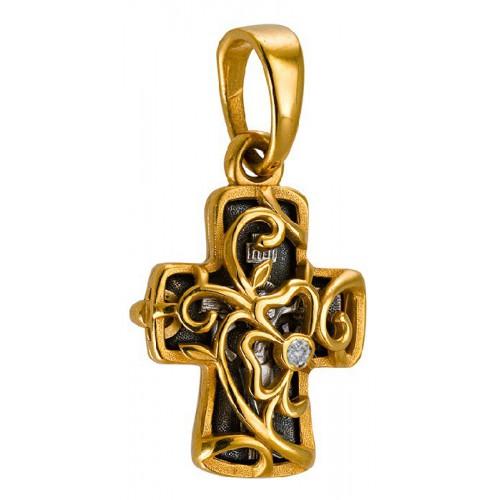 Крест складень с лозой. Символ Райского Сада