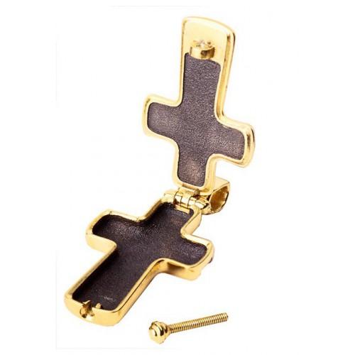 Нательный православный крест мощевик с распятием (Кс.719)
