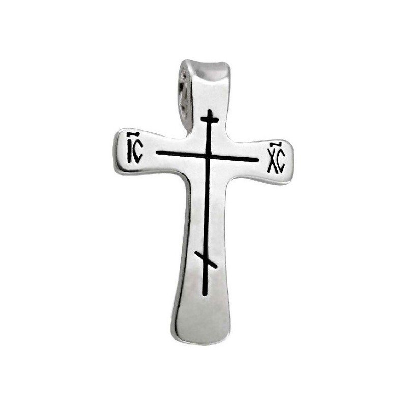 Нательный серебряный крест «Простой» 576с