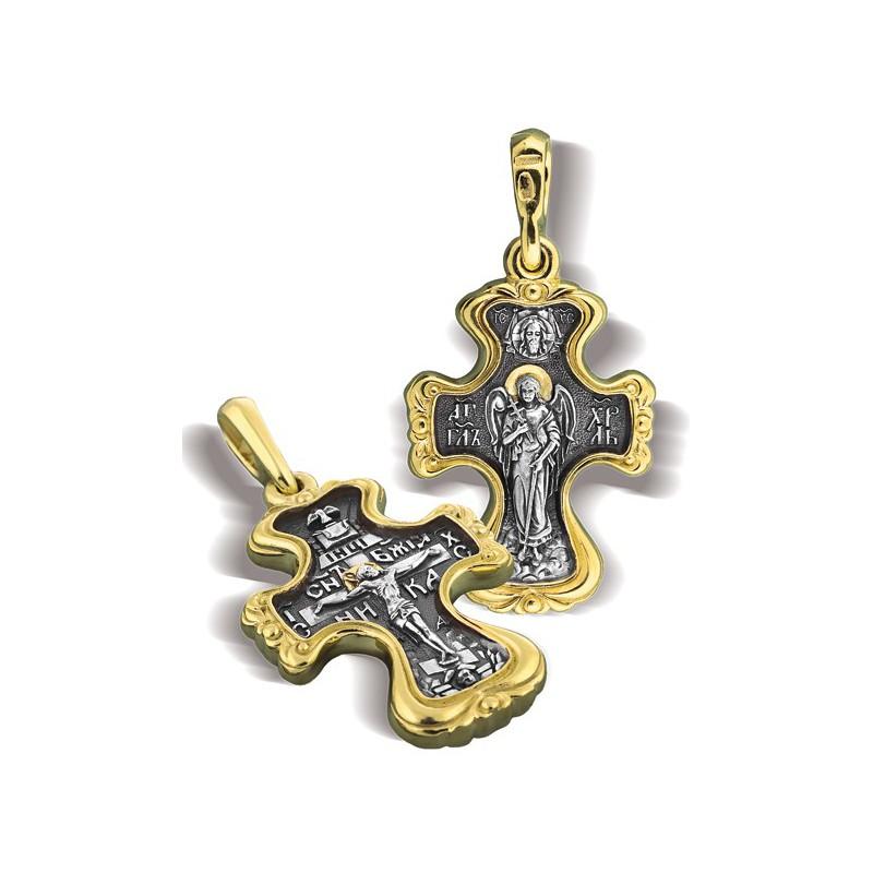 Крест православный «Распятие «Ангел Хранитель» КР 007