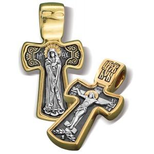 Нательный крестик. Богородица «Умиление»