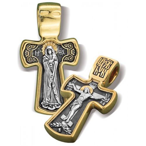 Нательный крест. Образ Божией Матери «Умиление»