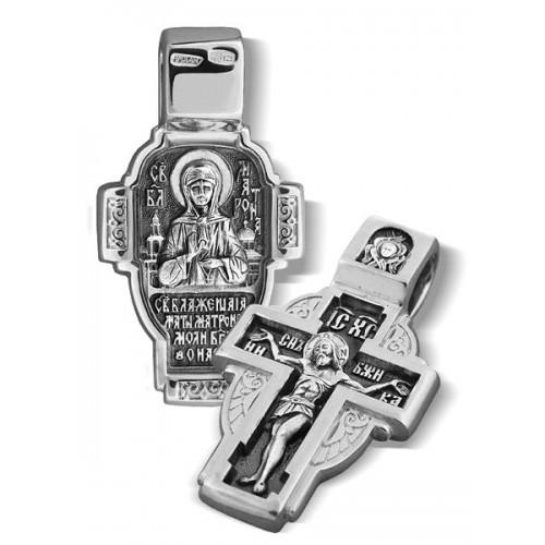 Серебряный крестик. Святая Матрона Московская