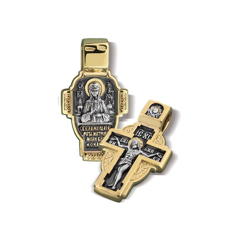 Православный нательный крест «Святая блж. Матрона» КР 027