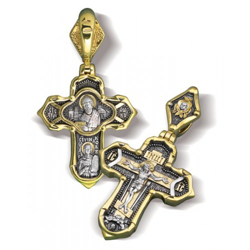 Крест «Святитель Спиридон, Святой Феодор Ушаков» КР044