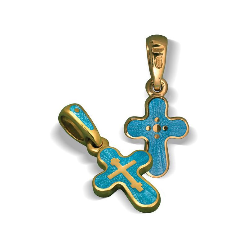 Православный крест с эмалью КЭ 13